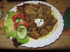 Mein Abendessen - leckeres Currygulasch in der Ratte