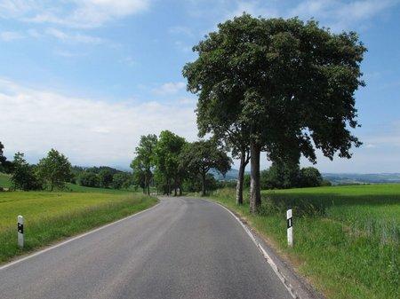 Kleine, eher schmale Bundesstraße