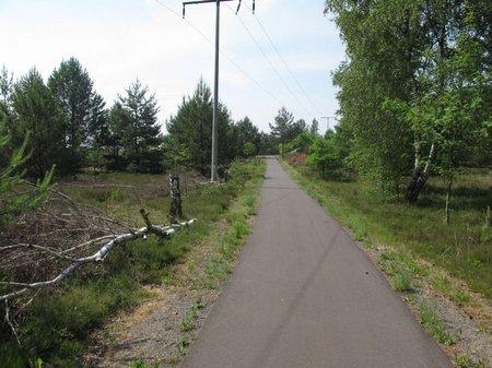 Radweg am Tagebaugebiet